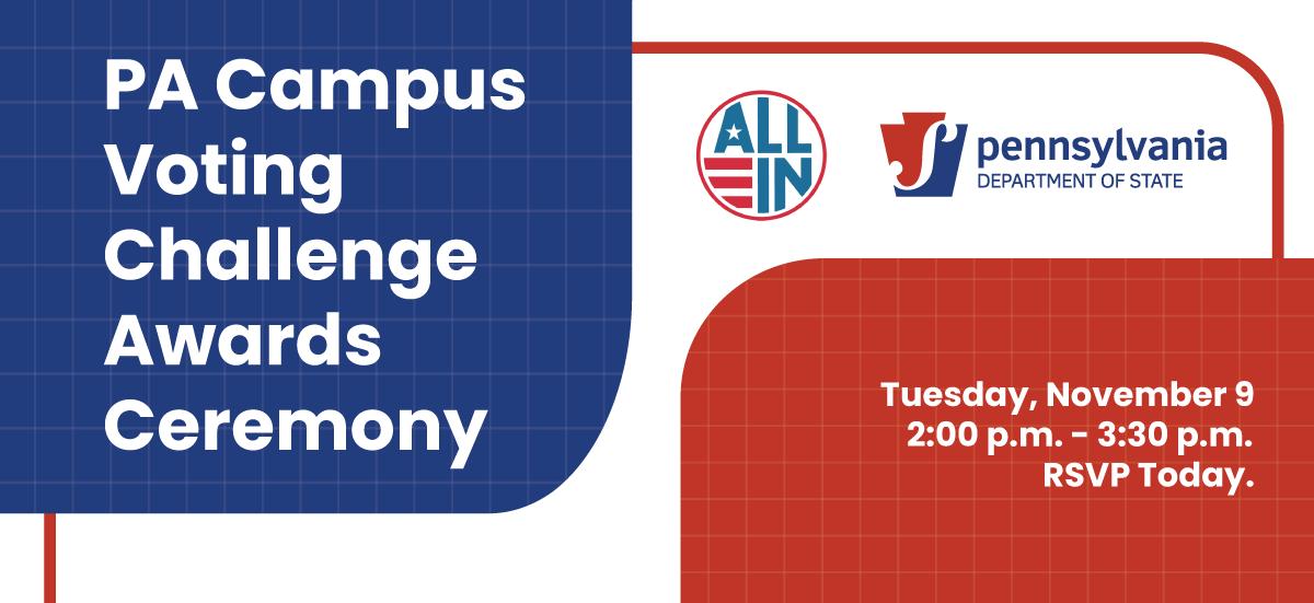 PA Campus Voting Challenge Virtual Awards