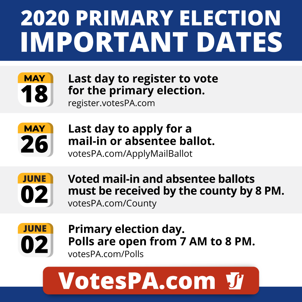 Important Dates for the Pennsylvania Primary