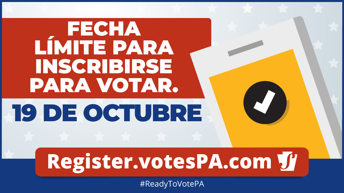voter registration deadline in spanish