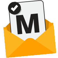 Envelope with the letter M