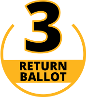 Step 3 Return your ballot