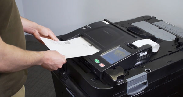 review your printed ballot then submit