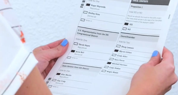 review your printed ballot