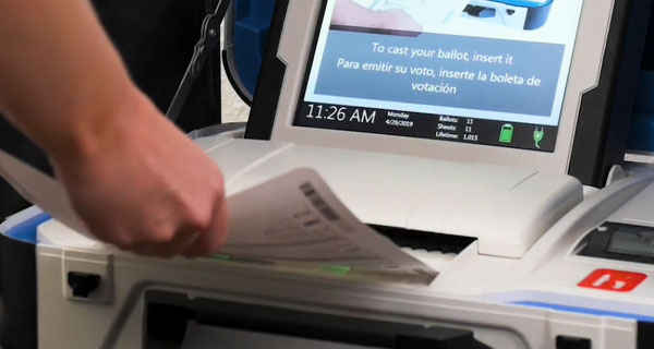scan your printed ballot